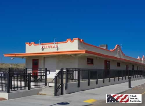 Railroad station in Kingman, Arizona