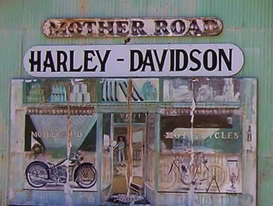 Mother Road Harley-Davidson mural in Kingman, Arizona