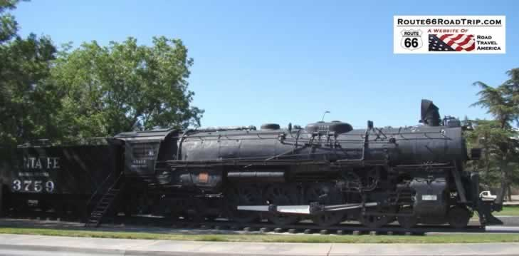Santa Fe steam locomotive in Kingman, Arizona