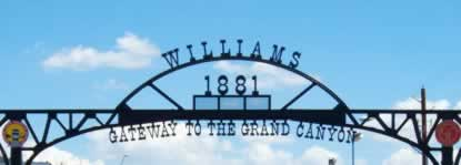 Williams, Arizona, founded in 1881 ... Gateway to the Grand Canyon