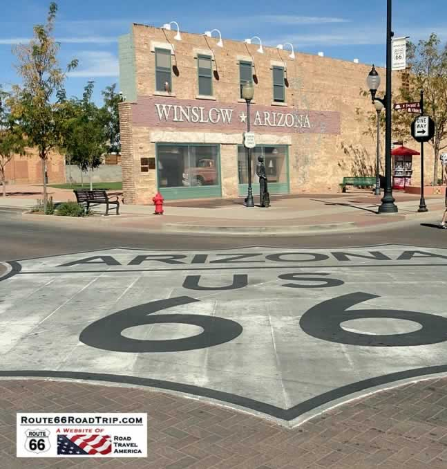 Standin on a Corner, in Winslow, Arizona
