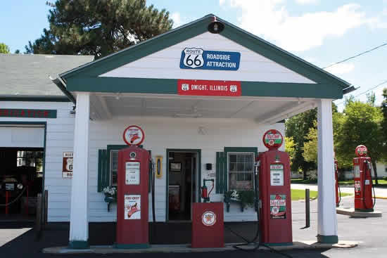 A Route 66 Roadside Attraction: Ambler's Texaco Station in Dwight, Illinois