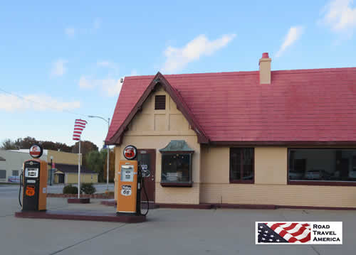 Baxter Springs, Kansas, Visitor Center in a restored Phillips 66 Service Station