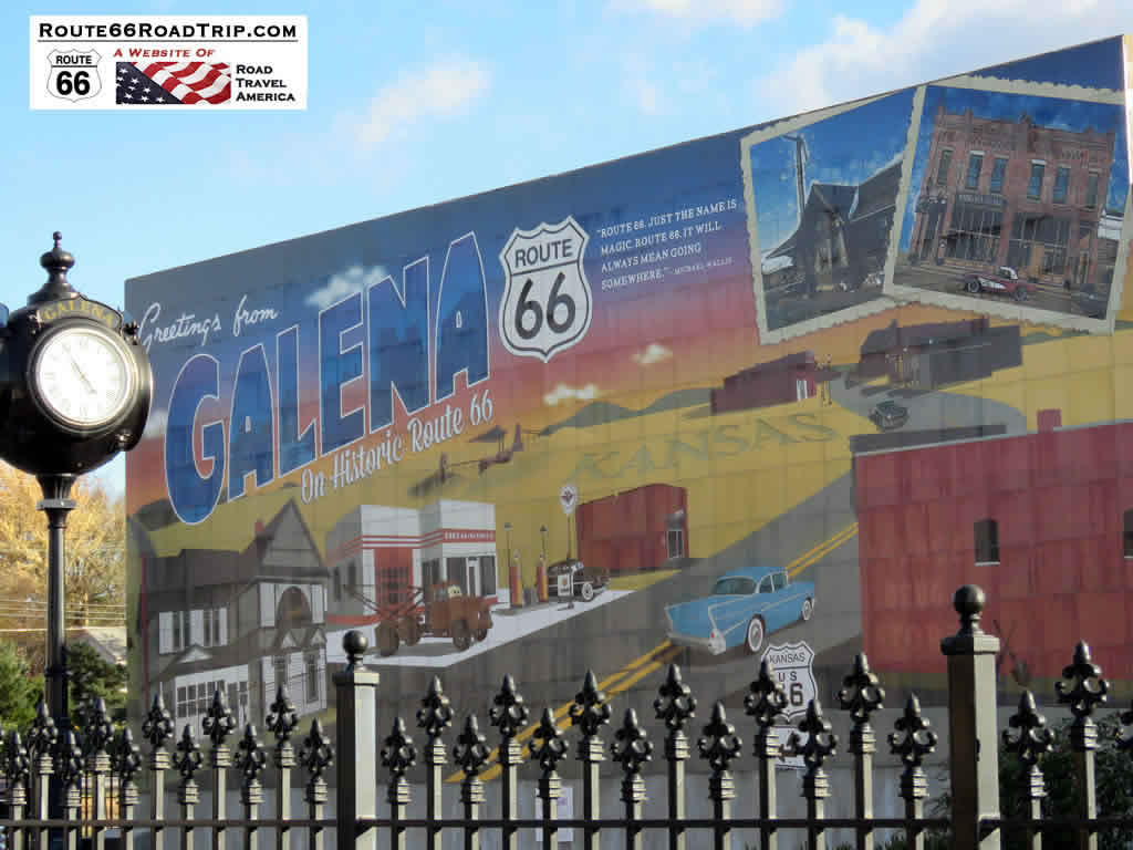 Route 66 mural in Galena, Kansas