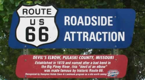 Roadside Attraction: Devil's Elbow, Pulaski County, Missouri
