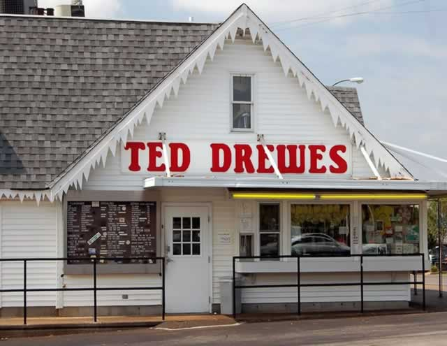 The ever-popular Ted Drewes Frozen Custard in St. Louis, Missouri