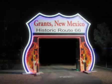 The Route 66 arch in Grants, New Mexico ... be sure to stop for a selfie!
