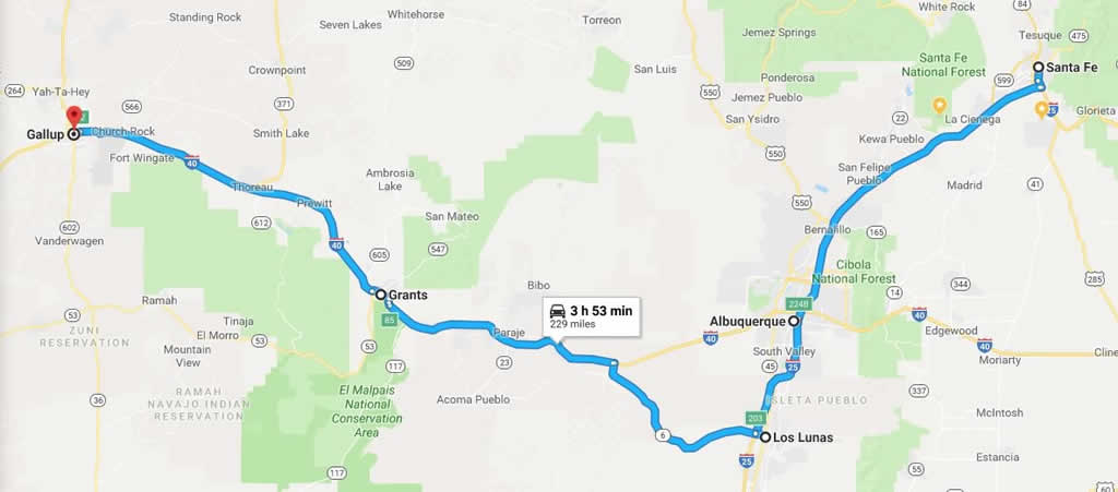 Historic U.S. Route 66 road trip from Santa Fe thru ... on chicago museums map, clayton ok map, espanola map, paris museums map, shopping map, philadelphia museums map, boston museums map, contact us map,