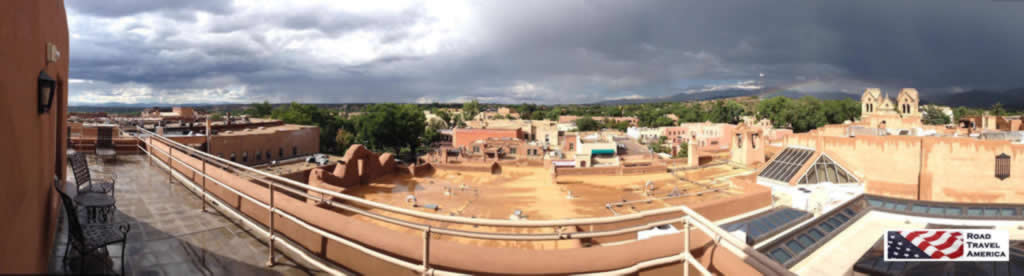 Panoramic view of downtown Santa Fe, New Mexico