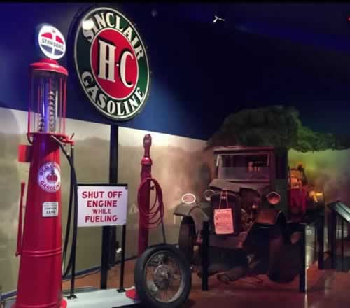 Inside exhibit at the Oklahoma Route 66 Museum in Clinton, Oklahoma