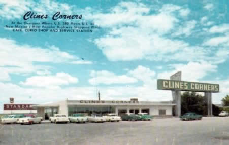 Early view of Clines Corners in New Mexico