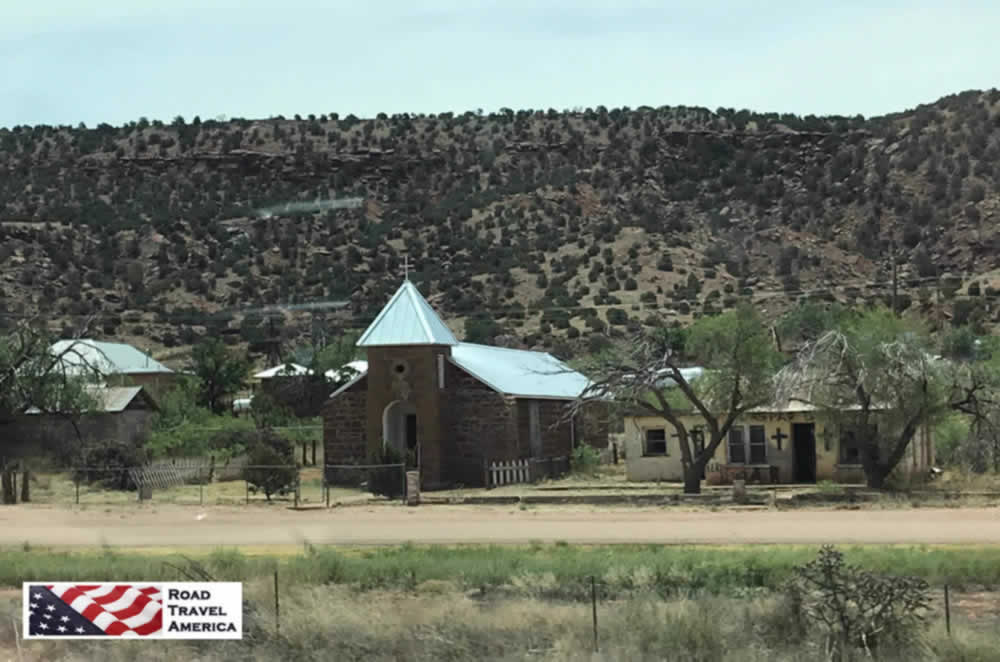 Church in the town of Cuervo, New Mexico