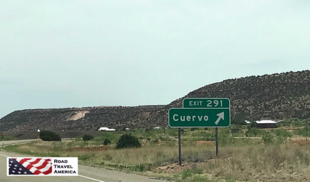 Exit 291 from I-40 to Cuervo, New Mexico