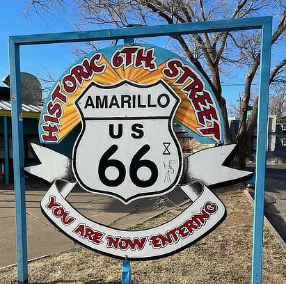 Greetings from Amarillo Texas ... the start of our road trip on Route 66!