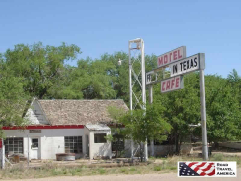 "The ""First Motel in Texas"" located in Glenrio on US Route 66"