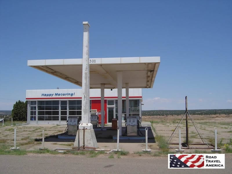 Historic Route 66 from Amarillo to Glenrio, with photos