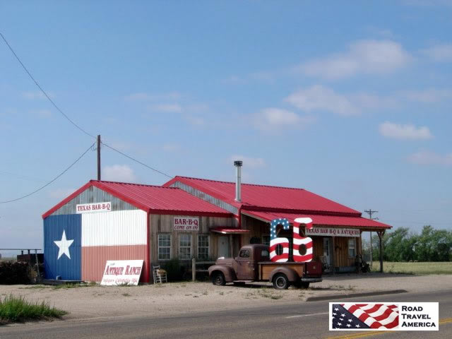 Texas Bar-B-Q at the mid-point of Route 66, in Adrian, Texas