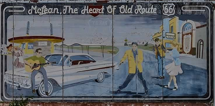 Mural in McLean, Texas: The Heart of Old Route 66