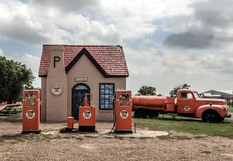 Phillips 66 service station in McLean Texas