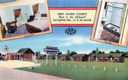 New Haven Courts, Springfield, Missouri, on Historic Route 66