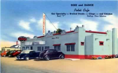 Dine and dance at Pete's Cafe, Gallup, New Mexico