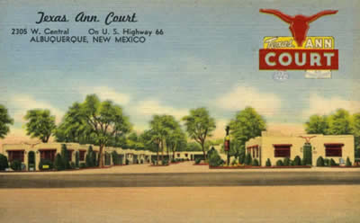 Texas Ann Court, 2305 W. Central, Albuquerque, New Mexico, on U.S. Highway 66