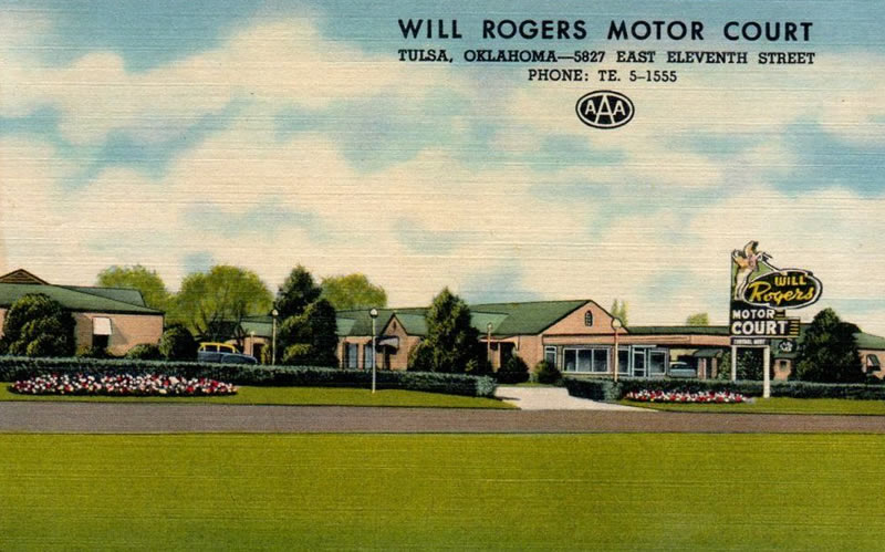 Will Rogers Motor Court at 5827 East Eleventh Street, Tulsa, Oklahoma