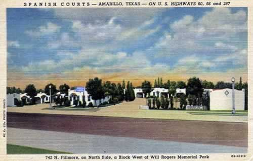 Spanish Courts, 742 N. Fillmore, on U.S. Highway 66 in Amarillo, Texas