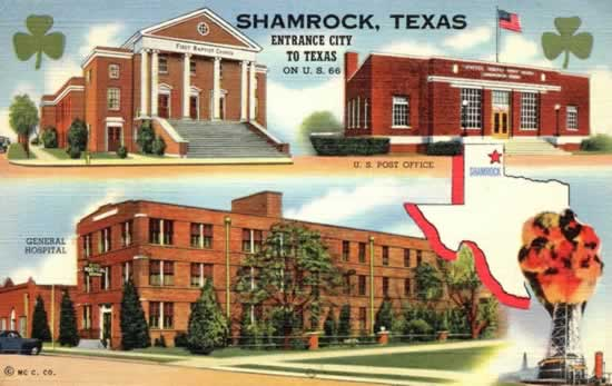 "Shamrock, Texas, ""Entrance City to Texas"" on U.S. 66"