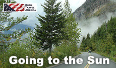 Going to the Sun Road in Glacier National Park in Montana